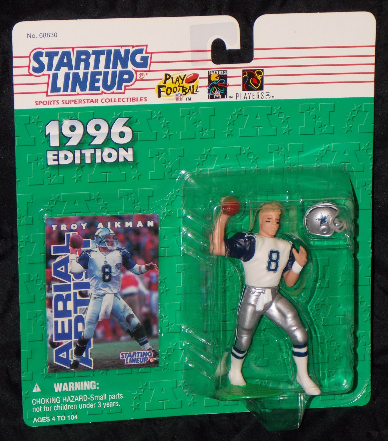 Rare Variant Troy Aikman Dallas Cowboys (1996) White Jersey Blue Sleeves SEALED