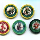 (5) 1997 NFL Chip Shots Young, Butler, Chandler, Jones, Favre