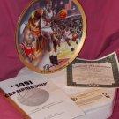 Upper Deck Michael Jordan 1991 Championship Plate + COA And Box