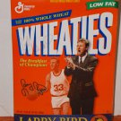 Wheaties Larry Bird Commemorative Edition Autographed By Larry Bird (1998) Added Shipping Cost Outside USA