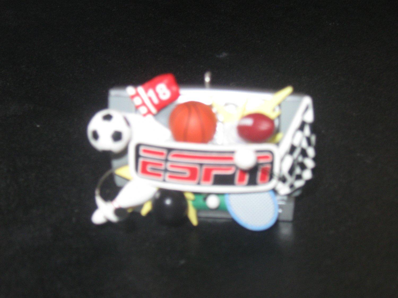 "2006 Hallmark Keepsake ""ESPN"" Ornament - MLB - NFL - NHL - NBA - SPORTS - NIB"
