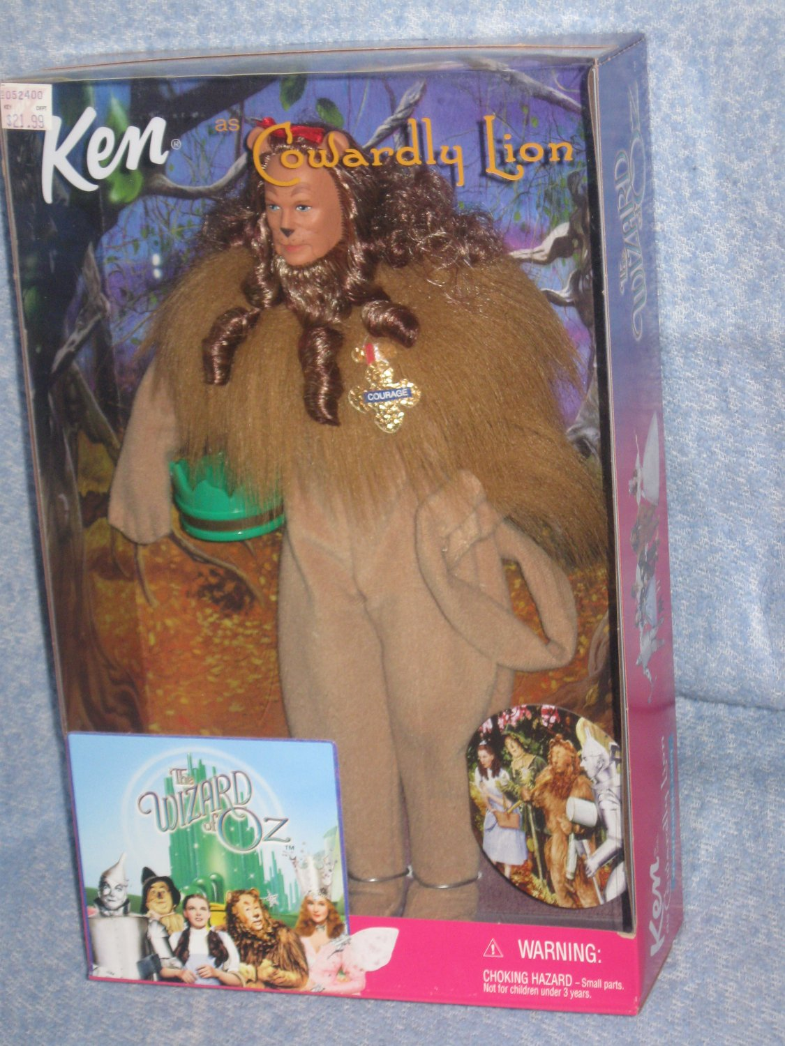 Ken Wizard of Oz - Ken as the Cowardly Lion 1999 Added Shipping Cost Outside USA