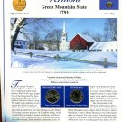 2001 Vermont Statehood Quarters - Postal Commemorative Society Uncirculated