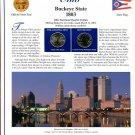 2002 Ohio Statehood Quarters - Postal Commemorative Society Uncirculated