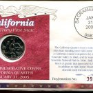 2005 Uncirculated Commemorative Cover California Quarter - Denver Mint Mark