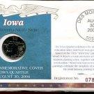 2004 Uncirculated Commemorative Cover Iowa Quarter - Denver Mint Mark
