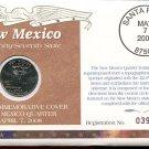2008 Uncirculated Commemorative Cover New Mexico Quarter - Philadelphia Mint Mark