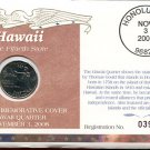 2008 Uncirculated Commemorative Cover Hawaii Quarter - Philadelphia Mint Mark