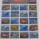American Advances in Aviation - Pane of 20 US Postage Stamps