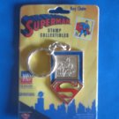 Superman Shield Key Chain United States Postal Service Stamp Collectibles 1998