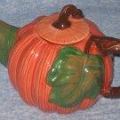 Wang Int'l Pumpkin Ceramic Tea Pot 1993 Added Shipping Cost Outside USA
