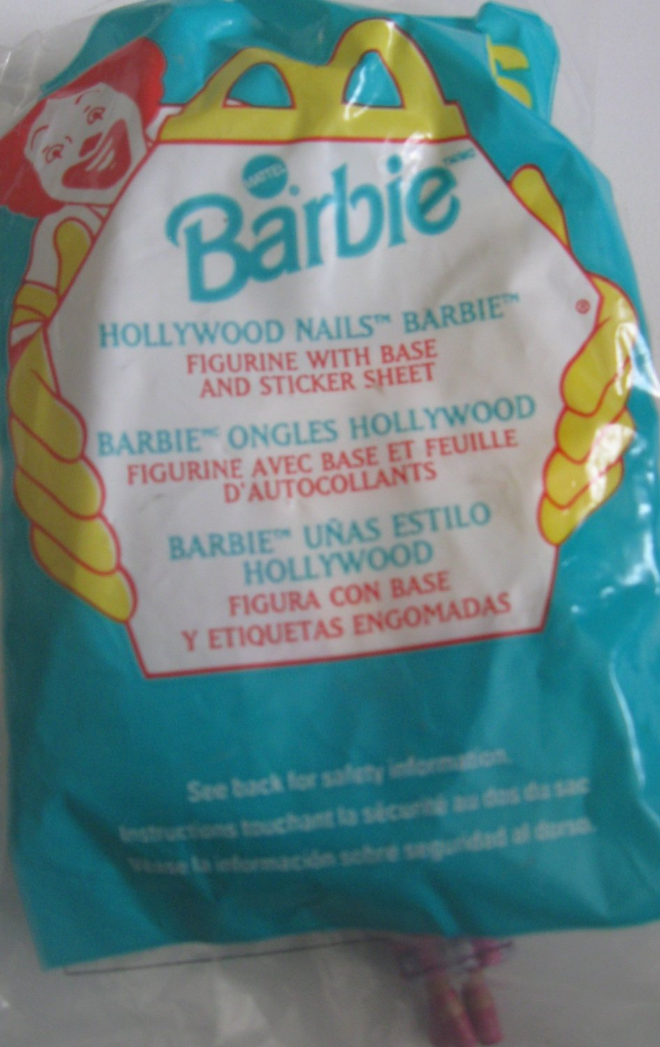 McDonald's Happy Meal Toy Barbie Hollywood Nails Barbie #6 1999