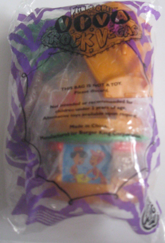 Burger King Kid's Meal Toy Flintstone Viva Rock Vegas Drive & Dine 2000