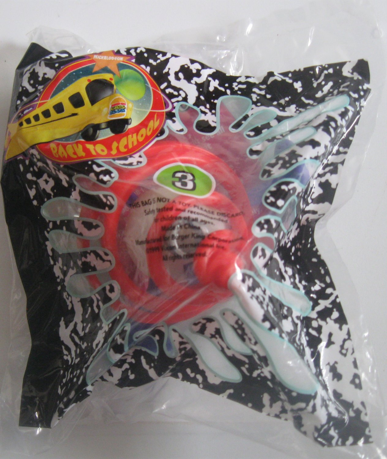 Burger King Kid's Meal Toy - Back to School #3 1999