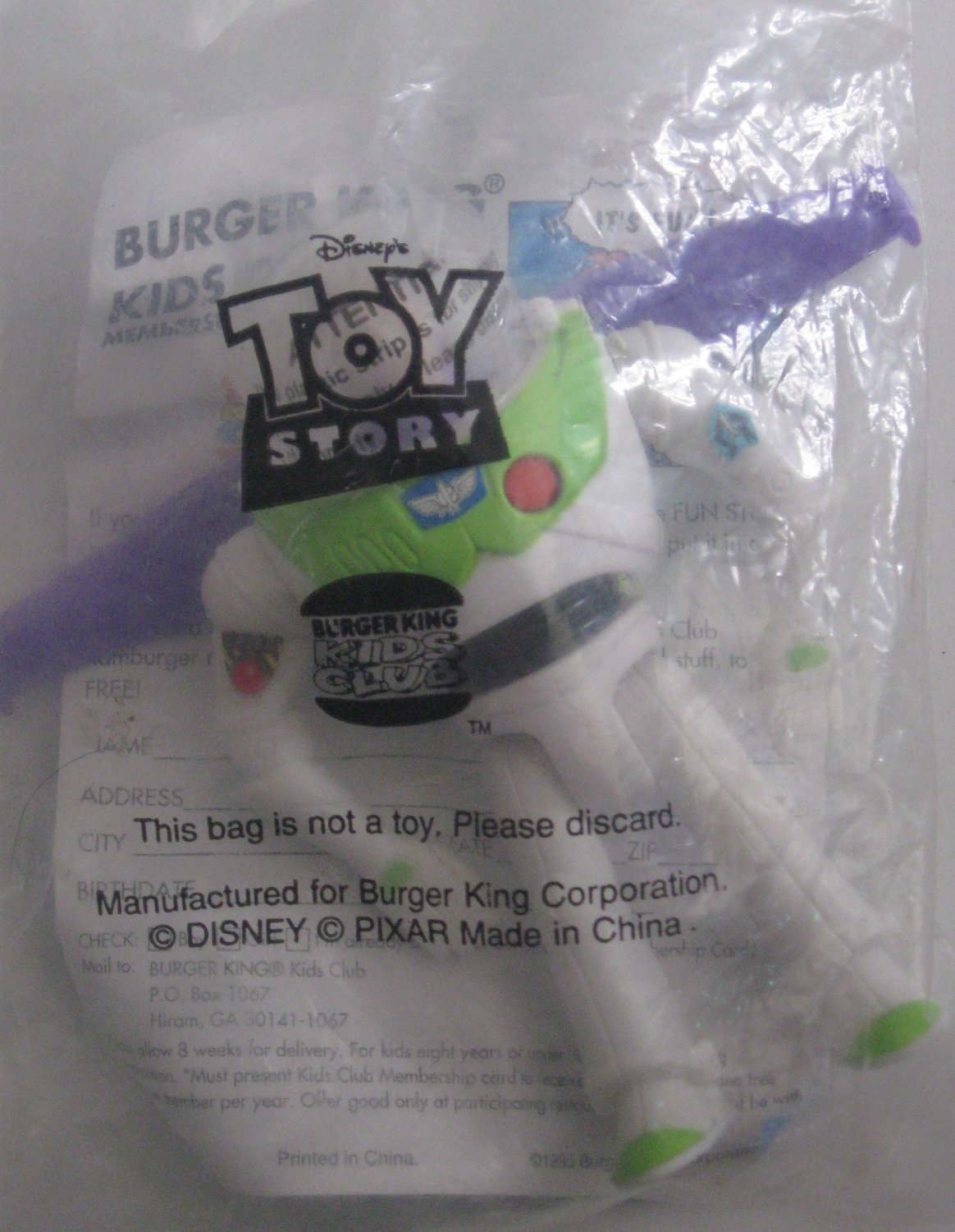 Burger King Kid's Meal Toy - Toy Story Buzz Lightyear 1999