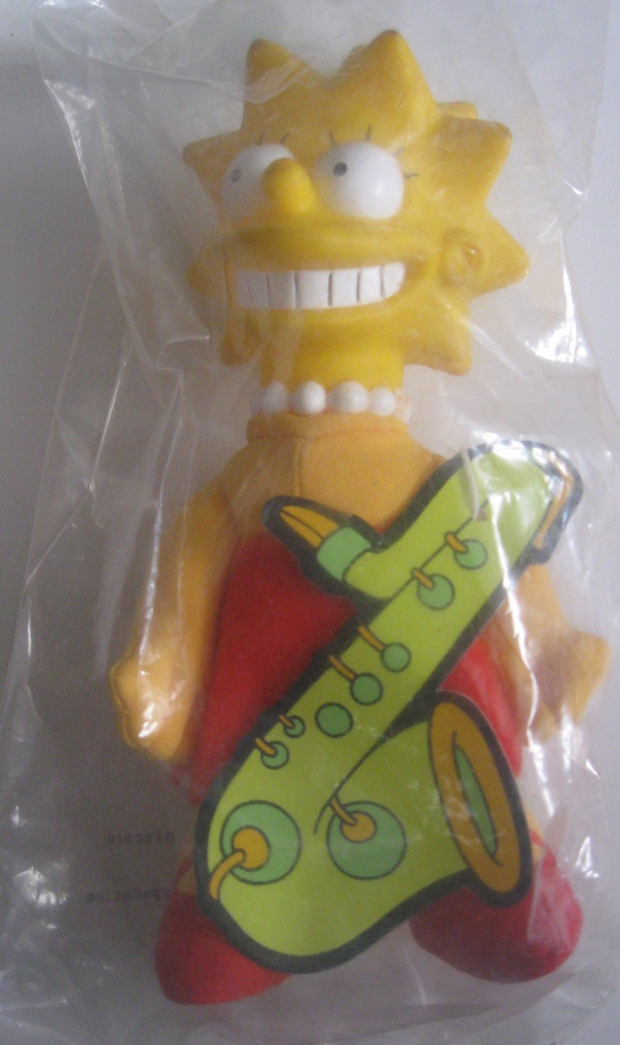Burger King Kid's Meal Toy - The Simpsons Lisa Simpson Doll Plush with Hard Head 1990