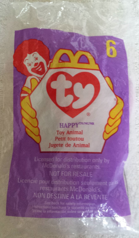 McDonald's Happy Meal Toy Ty Teenie Beanie Baby Happy the Hippo #6