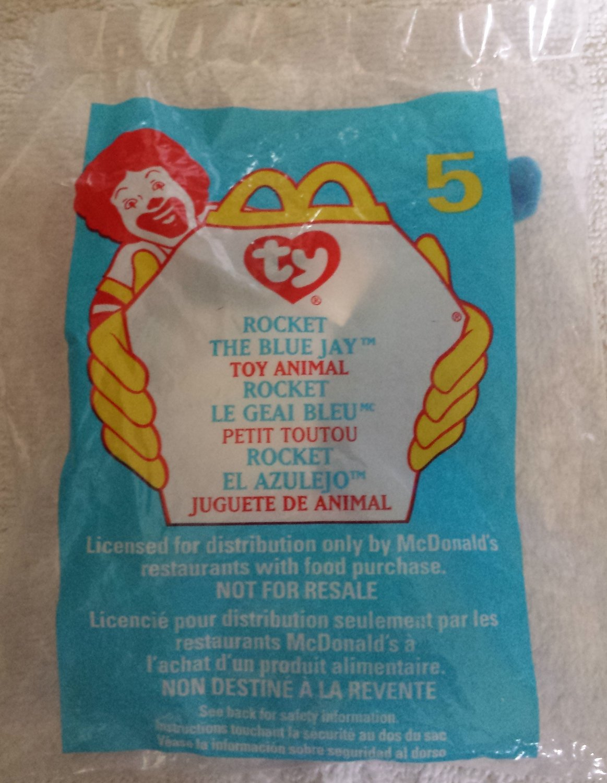 McDonald's Happy Meal Toy Ty Teenie Beanie Baby Rocket the Blue Jay #5