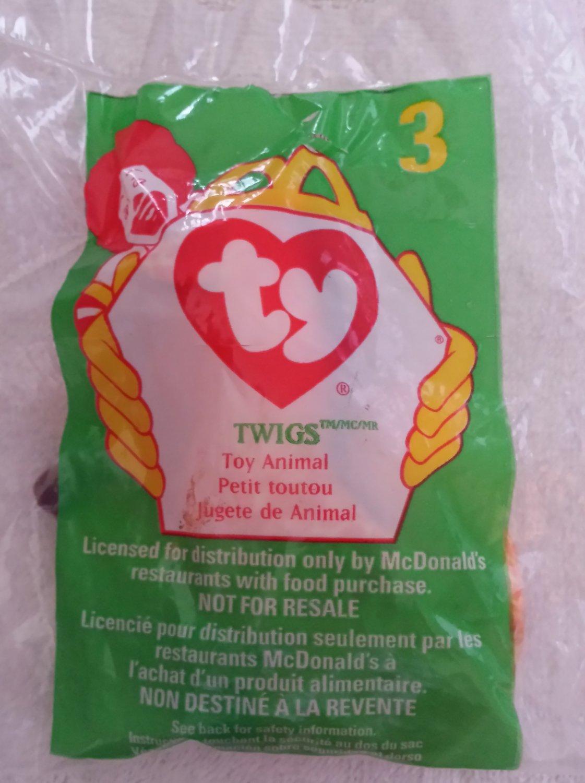 McDonald's Happy Meal Toy Ty Teenie Beanie Baby Twigs the Giraffe #3