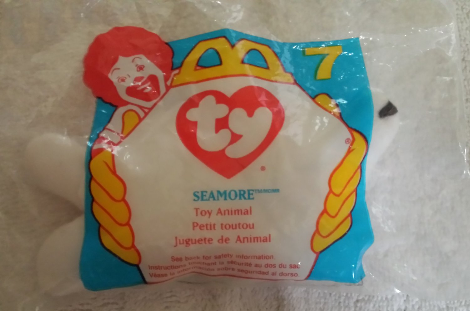 McDonald's Happy Meal Toy Ty Teenie Beanie Baby Seamore the Seal #7