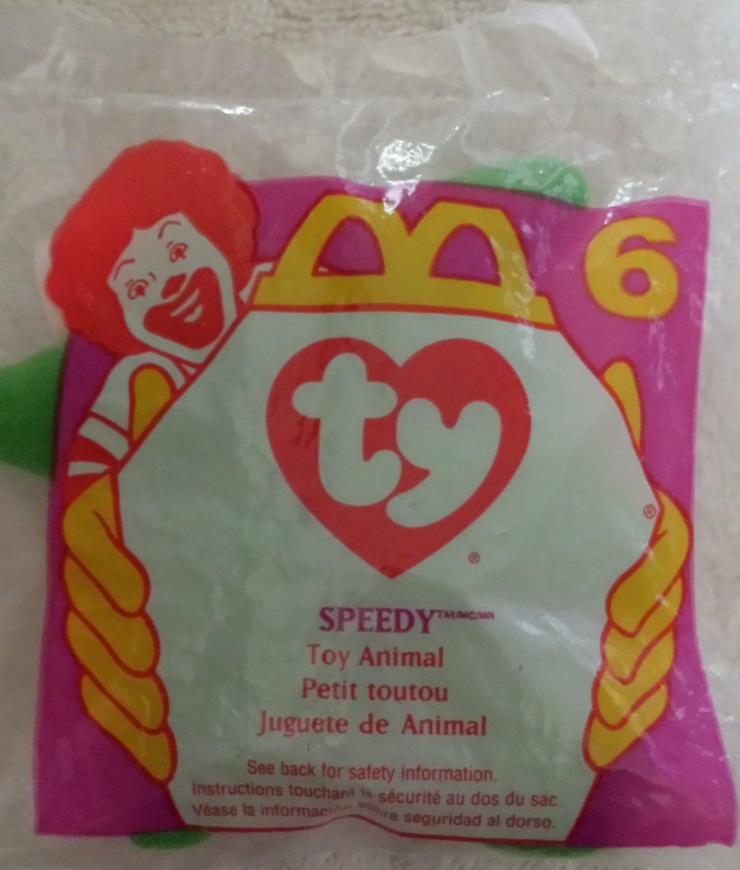 McDonald's Happy Meal Toy Ty Teenie Beanie Baby Speedy the Turtle #6