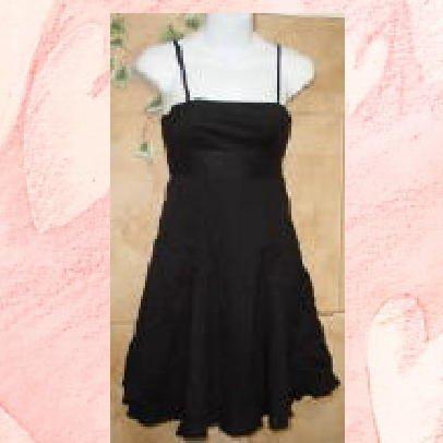 NWT GAP Black Sundress with Peakaboo Pleat Hem Dress 2