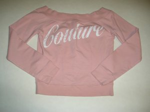 EXPRESS ~ pink 'couture' sweatshirt shirt top ~ S
