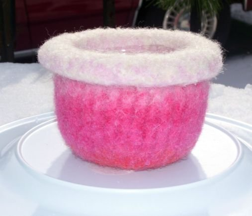 Felted Pink Bowl