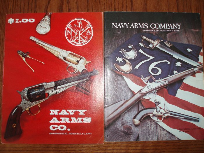 Lot of 2 NaVY ARmS Old Gun Catalogs 1972 76