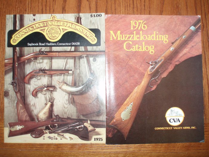 CVA CONNeCTICUTT VALLeY ARmS Old Muzzle Loading Gun Catalogs 1975 76