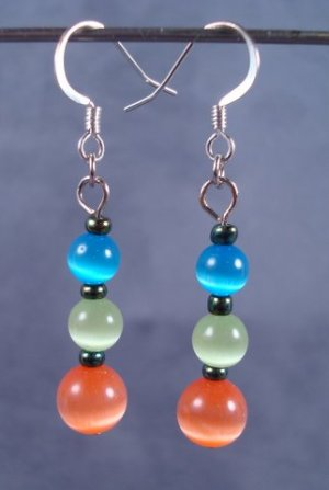 Fruity Tootie Cats Eye Earrings