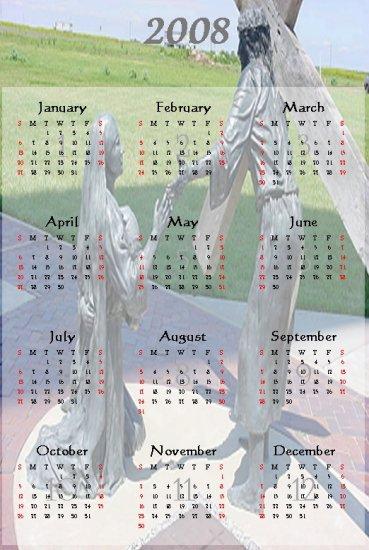 Jesus with Mary Calendar