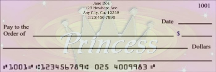 Pretty Princess Checks