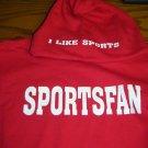 Sportsfan hoodie red