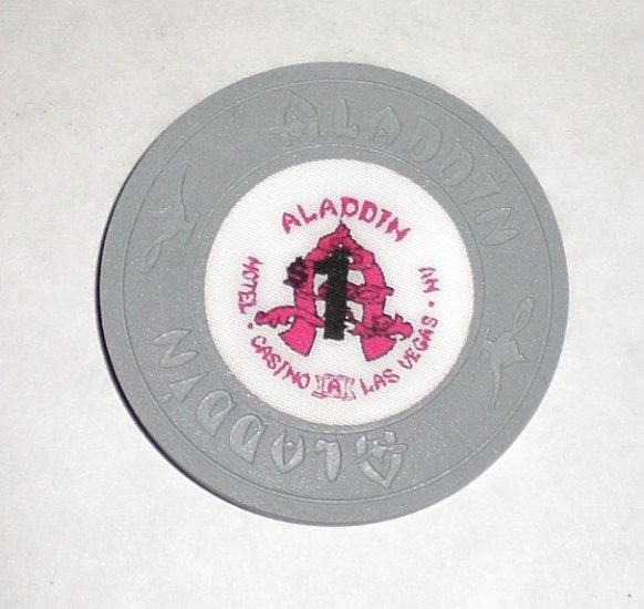 Old & Obsolete $1 Aladdin Casino Chip-Perfect Condition !
