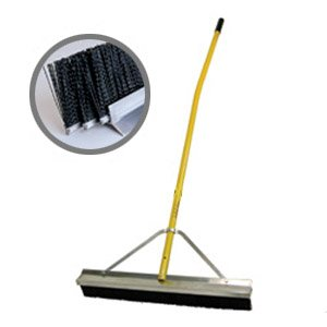 Industrial Broom with 3 bristle rows - Made in USA