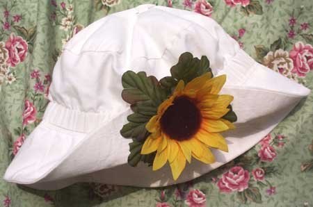 Vintage Style Floppy Sun Hat  - Sunflower - Baby -Toddler - Little Girl