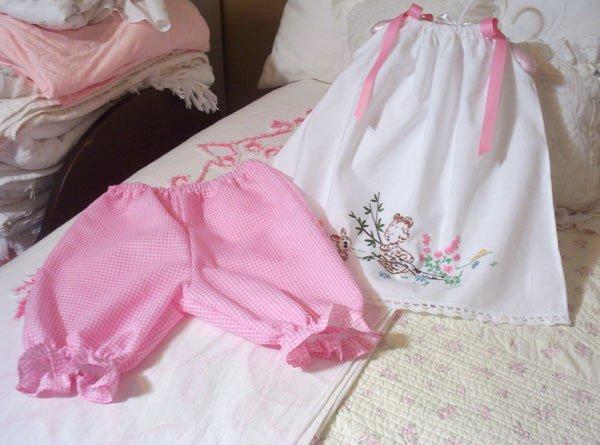 Pink Gingham Pantaloons - 6M - 4T - Little Girl - Toddler - Infant - Baby - Custom Order