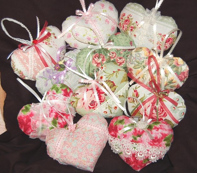 Lavender Sachets - 33 - Heart and Strawberry Sachet - Special Request Order