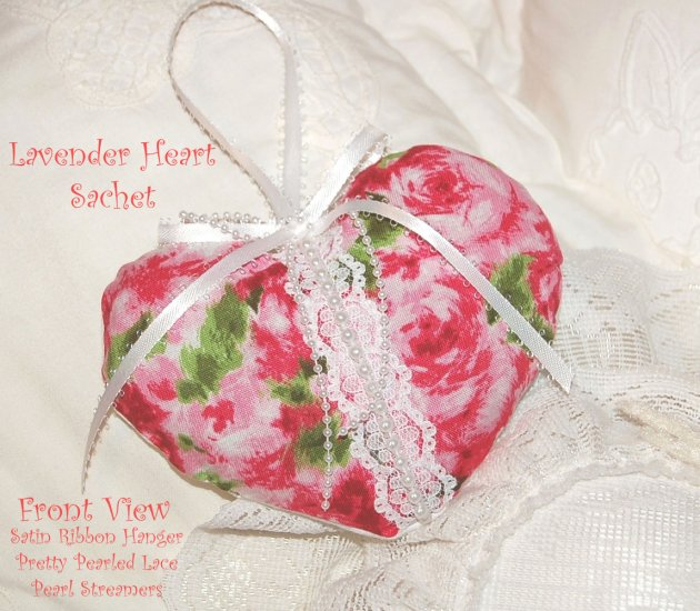 Rose ~ Heart ~ Lavender Sachet ~ Gift Idea ~ Scented