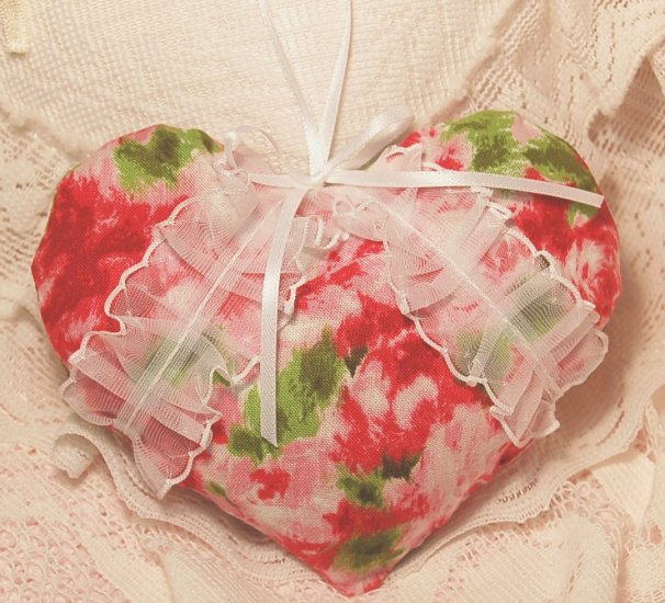 Roses n Lace Heart ~ Lavender Sachet ~ Gift Idea ~ Scented