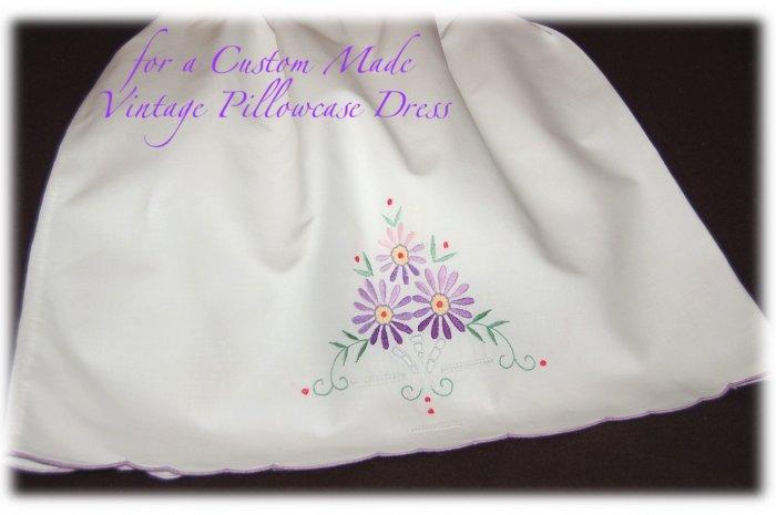 Jane - Vintage Pillowcase Dress - Little Girls Vintage Dress