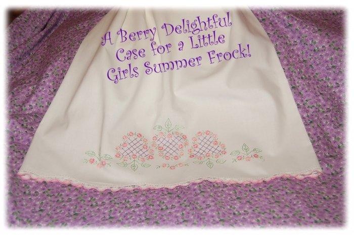 BerryDelight - Vintage Pillowcase Dress - Little Girl Beach Portrait Summer Dress