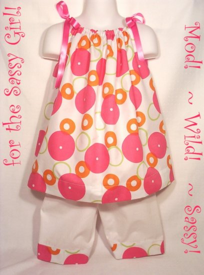 Sassy - Pillowcase Dress and Capri Pants - Little Girl - 5 - 6 - 7 - 8