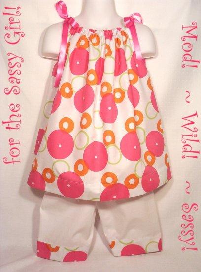 Sassy - Pillowcase Dress and Capri Pants - Little Girl - 5 - 6 - 7