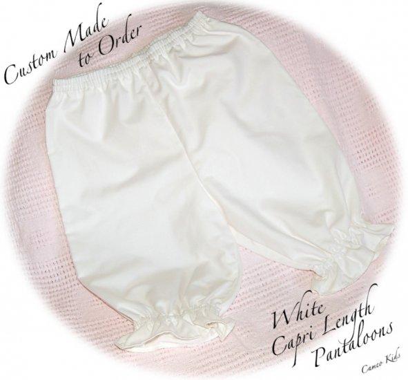 White Pantaloons - Capri Length - Pant - 6M - 4T - Custom Order