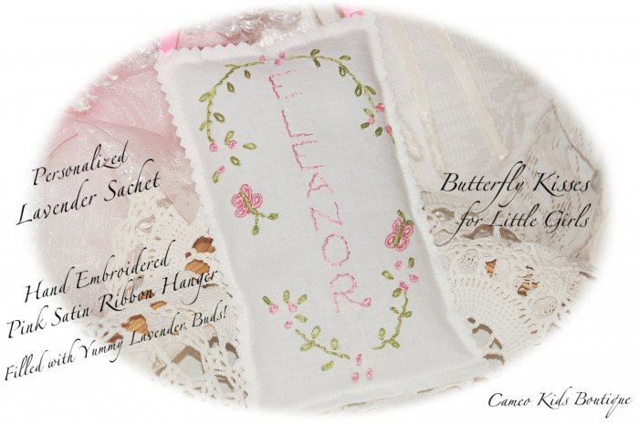 Personalized Lavender Sachet - Lavender Sachets - Lavender Gifts - ButterflyKiss