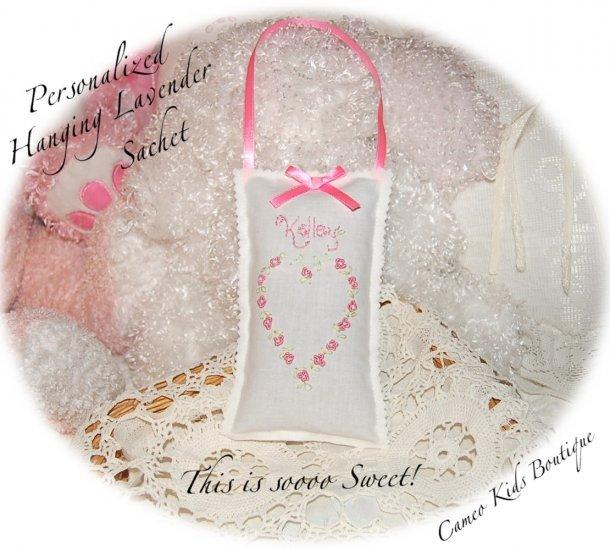 Personalized Lavender Sachet - Lavender Sachets - Lavender Gifts - Floral Heart