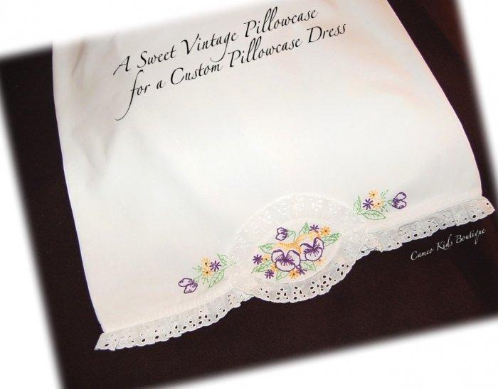Pillowcase Dress - Pandora  - Embroidered Little Girls Dress