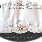 Bonnie - Little Girls Embroidered Vintage Pillowcase Dress